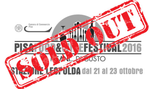 21 Ottobre: Pisa Food&Wine – SOLD OUT