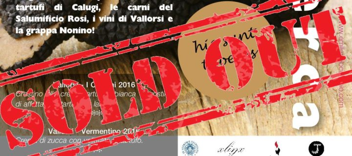 """hic sunt tuberes"" 21 Maggio 2017 al Lumiére: SOLD-OUT"